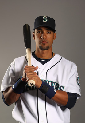 PEORIA, AZ - FEBRUARY 20:  Franklin Gutierrez #21 of the Seattle Mariners poses for a portrait at the Peoria Sports Complex on February 20, 2011 in Peoria, Arizona.  (Photo by Ezra Shaw/Getty Images)