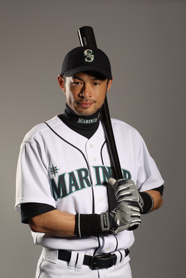 PEORIA, AZ - FEBRUARY 20:  Ichiro Suzuki #51 of the Seattle Mariners poses for a portrait at the Peoria Sports Complex on February 20, 2011 in Peoria, Arizona.  (Photo by Ezra Shaw/Getty Images)
