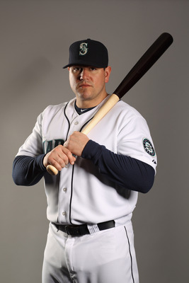 PEORIA, AZ - FEBRUARY 20:  Jack Cust #29 of the Seattle Mariners poses for a portrait at the Peoria Sports Complex on February 20, 2011 in Peoria, Arizona.  (Photo by Ezra Shaw/Getty Images)