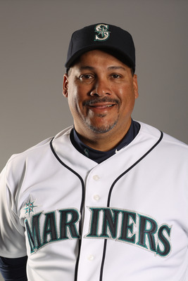PEORIA, AZ - FEBRUARY 20: Bullpen coach Jaime Navarro of the Seattle Mariners poses for a portrait at the Peoria Sports Complex on February 20, 2011 in Peoria, Arizona.  (Photo by Ezra Shaw/Getty Images)