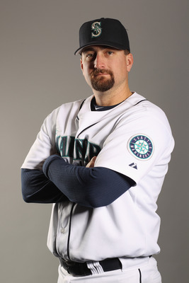 PEORIA, AZ - FEBRUARY 20: Coach Jason Phillips of the Seattle Mariners poses for a portrait at the Peoria Sports Complex on February 20, 2011 in Peoria, Arizona.  (Photo by Ezra Shaw/Getty Images)