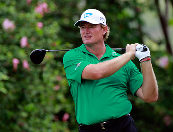 HONOLULU, HI - JANUARY 14:  Ernie Els of South Africa plays a shot during the first round of the Sony Open at Waialae Country Club on January 14, 2011 in Honolulu, Hawaii.  (Photo by Sam Greenwood/Getty Images)