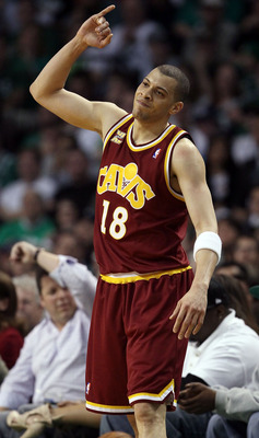 BOSTON - MAY 09:  Anthony Parker #18 of the Cleveland Cavaliers reacts after the ball is called out of bounds on him in the first half against the Boston Celtics during Game Four of the Eastern Conference Semifinals of the 2010 NBA playoffs at TD Garden o