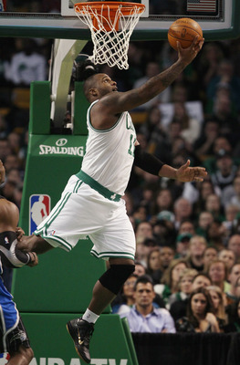 BOSTON, MA - JANUARY 17:  Glen Davis #11 of the Boston Celtics takes a shot in the second half against the Orlando Magic on January 17, 2011 at the TD Garden in Boston, Massachusetts. The Celtics defeated the Magic 109-106.  NOTE TO USER: User expressly a