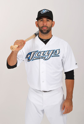 DUNEDIN, FL - FEBRUARY 20:  Jose Bautista #19 of the Toronto Blue Jays poses during photo day at Florida Auto Exchange Stadium on February 20, 2011 in Dunedin, Florida.  (Photo by Nick Laham/Getty Images)