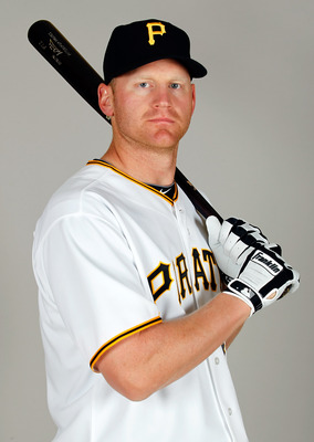 BRADENTON, FL - FEBRUARY 20:  Infielder Lyle Overbay #37 of the Pittsburgh Pirates poses for a photo during photo day at Pirate City on February 20, 2011 in Bradenton, Florida.  (Photo by J. Meric/Getty Images)