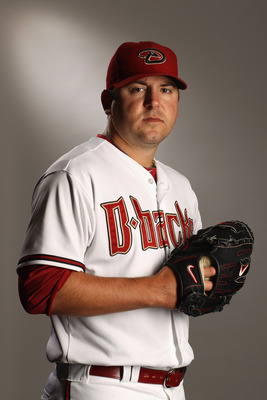 SCOTTSDALE, AZ - FEBRUARY 21:  Joe Saunders #34 of the Arizona Diamondbacks poses for a portrait at Salt River Fields at Talking Stick on February 21, 2011 in Scottsdale, Arizona.  (Photo by Ezra Shaw/Getty Images)