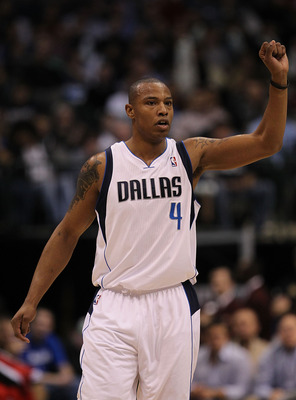 DALLAS, TX - DECEMBER 15:  Forward Caron Butler #4 of the Dallas Mavericks at American Airlines Center on December 15, 2010 in Dallas, Texas. NOTE TO USER: User expressly acknowledges and agrees that, by downloading and or using this photograph, User is c