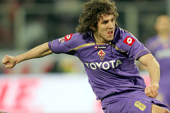 FLORENCE, ITALY - MARCH 06:  Stevan Jovetic of ACF Fiorentina in action during the Serie A match between at ACF Fiorentina and Juventus FC at Stadio Artemio Franchi on March 6, 2010 in Florence, Italy.  (Photo by Gabriele Maltinti/Getty Images)