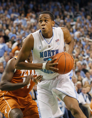 GREENSBORO, NC - DECEMBER 18:  John Henson #31 of the North Carolina Tar Heels against the Texas Longhorns at Greensboro Coliseum on December 18, 2010 in Greensboro, North Carolina.  (Photo by Kevin C. Cox/Getty Images)