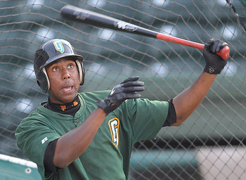 Peguero on the Augusta Greenjackets