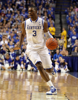 LEXINGTON, KY - JANUARY 03:  Terrence Jones #3 of the Kentucky Wildcats dribbles the ball during the game against the Penn Quakers at Rupp Arena on January 3, 2011 in Lexington, Kentucky.  (Photo by Andy Lyons/Getty Images)