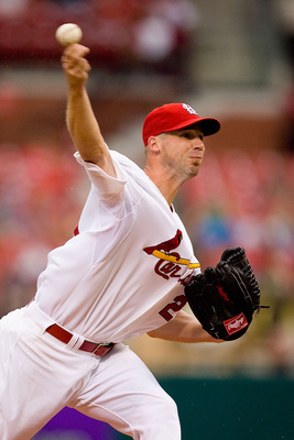 ST. LOUIS - JULY 20: Starting pitcher Chris Carpenter #29 of the St. Louis Cardinals throws against the Philadelphia Phillies at Busch Stadium on July 20, 2010 in St. Louis, Missouri.  (Photo by Dilip Vishwanat/Getty Images)