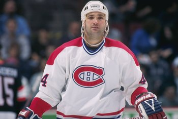 15 Mar 1997:  Rightwinger Stephane Richer of the Montreal Canadiens looks on during a game against the Ottawa Senators at The Forum in Montreal, Quebec.  The game was a tie, 2-2Mandatory Credit: Robert Laberge  /Allsport