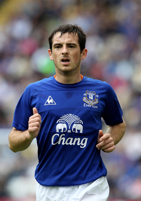 PRESTON, LANCASHIRE - JULY 24:  Leighton Baines of Everton looks on during the pre season friendly match between Preston North End and Everton at Deepdale on July 24, 2010 in Preston, Lancashire.  (Photo by David Rogers/Getty Images)