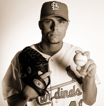 JUPITER, FL - FEBRUARY 25: Rick Ankiel #49 of the St. Louis Cardinals poses for a portrait on Media Day at Roger Dean Stadium on February 25, 2005 in Jupiter, Florida.  (Photo by Elsa/Getty Images)