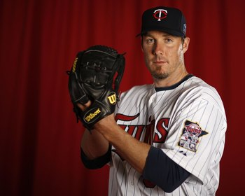 FT. MYERS, FL - MARCH 01:  Joe Nathan #36 of the Minnesota Twins poses during photo day at Hammond Stadium on March 1, 2010 in Ft. Myers, Florida.  (Photo by Gregory Shamus/Getty Images)