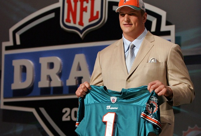 NEW YORK - APRIL 26:  Jake Long poses for a photo after being taken with the fisrt overall pick by the Miami Dolphins during the 2008 NFL Draft on April 26, 2008 at Radio City Music Hall in New York, New York.  (Photo by Jim McIsaac/Getty Images)