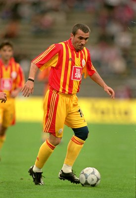 4 Aug 2000:  Gheorghe Hagi of Galatasaray in action during the Opel Masters pre-season tournament against Bayern Munich played at the Olympic Stadium in Munich, Germany. Bayern won the game 1-0. \ Mandatory Credit: Jamie McDonald /Allsport
