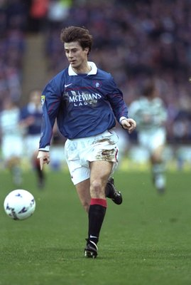 2 Jan 1998:  Brian Laudrop of Rangers in action during the Scottish FA Premier Leauge match against Celtic at Celtic Park in Glasgow, Scotland. Celtic won the match 2-0. \ Mandatory Credit: Stu Forster /Allsport