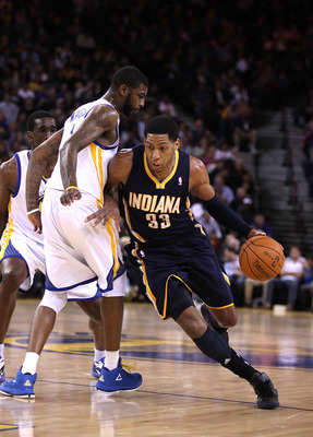 OAKLAND, CA - JANUARY 19:  Danny Granger #33 of the Indiana Pacers in action against the Golden State Warriors at Oracle Arena on January 19, 2011 in Oakland, California.  NOTE TO USER: User expressly acknowledges and agrees that, by downloading and or us