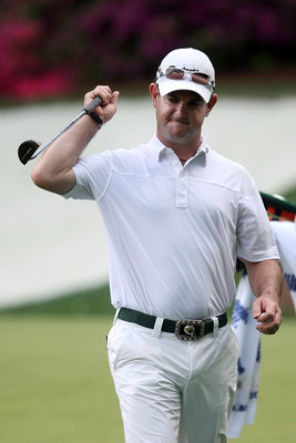 AUGUSTA, GA - APRIL 11:  Rory Sabbatini of South Africa reacts to a missed putt on the 13th green during the third round of the 2009 Masters Tournament at Augusta National Golf Club on April 11, 2009 in Augusta, Georgia.  (Photo by Andrew Redington/Getty