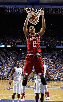 LEXINGTON, KY - DECEMBER 11:  Christian Watford #2 of the Indiana Hoosiers dunks the ball during the game against the Kentucky Wildcats on December 11, 2010 in Lexington, Kentucky.  (Photo by Andy Lyons/Getty Images)