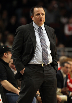 CHICAGO, IL - JANUARY 28: Head coach Tom Thibodeau of the Chicago Bulls watches as his team takes on the Orlando Magic at the United Center on January 28, 2011 in Chicago, Illinois. The Bulls defeated the Magic 99-90. NOTE TO USER: User expressly acknowle