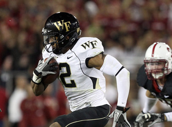PALO ALTO, CA - SEPTEMBER 18:  Chris Givens #2 of the Wake Forest Demon Deacons in action against the Stanford Cardinal at Stanford Stadium on September 18, 2010 in Palo Alto, California.  (Photo by Ezra Shaw/Getty Images)