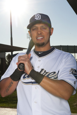 PEORIA, AZ - FEBRUARY 23: Jason Bartlett #8 of the San Diego Padres poses during their photo day at the Padres Spring Training Complex on February 23, 2011 in Peoria, Arizona. (Photo by Rob Tringali/Getty Images)