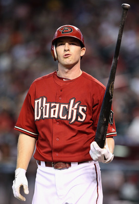 PHOENIX - SEPTEMBER 06:  Stephen Drew #6 of the Arizona Diamondbacks reacts after striking out agianst the San Francisco Giants during the Major League Baseball game at Chase Field on September 6, 2010 in Phoenix, Arizona.  (Photo by Christian Petersen/Ge