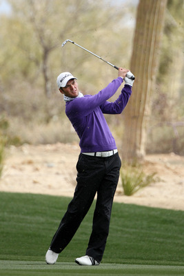 MARANA, AZ - FEBRUARY 27:  Martin Kaymer of Germany hits an approach shot on the second hole during the final round of the Accenture Match Play Championship at the Ritz-Carlton Golf Club on February 27, 2011 in Marana, Arizona.  (Photo by Andy Lyons/Getty