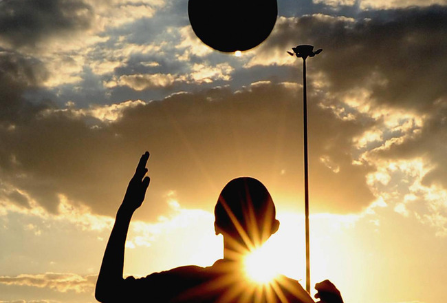 SOWETO, SOUTH AFRICA - MARCH 24: A silhouette of a boy controlling the ball during the Gauteng Future Champions U17 Soccer Tournament on March 24, 2009 held in Soweto, South Africa. (Photo by Lefty Shivambu/Gallo Images/Getty Images)