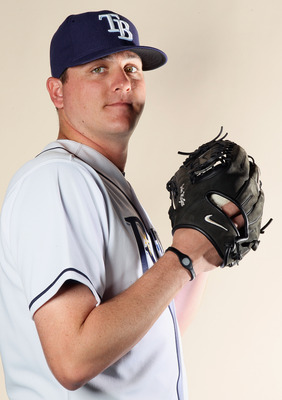 FT. MYERS, FL - FEBRUARY 22:  Jake McGee #57 of the Tampa Bay Rays poses for a portrait during the Tampa Bay Rays Photo Day on February 22, 2011 at the Charlotte Sports Complex in Port Charlotte, Florida.  (Photo by Elsa/Getty Images)