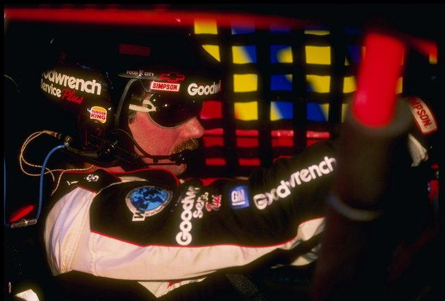 6 Sep 1997:  Dale Earnhardt sits behind the wheel during the Exide Batteries 400 at the Richmond International Raceway in Richmond, Virginia. Mandatory Credit: Craig Jones  /Allsport