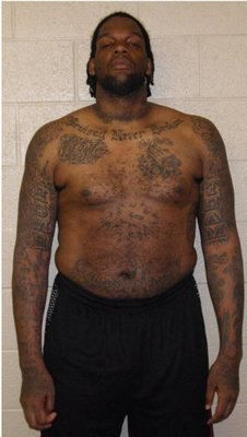 NBA player, Eddy Curry, showing that his contract is not the only thing that's fat.