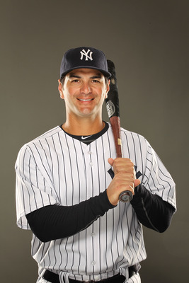 TAMPA, FL - FEBRUARY 23:  Eric Chavez #12 of the New York Yankees poses for a portrait on Photo Day at George M. Steinbrenner Field on February 23, 2011 in Tampa, Florida.  (Photo by Al Bello/Getty Images)