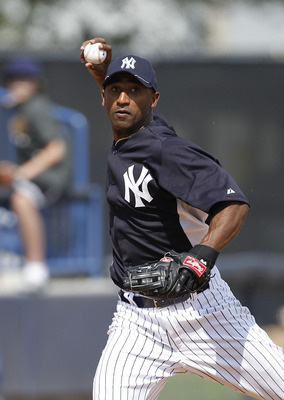 TAMPA, FL - FEBRUARY 20:  Eduardo Nunez #67 of the New York Yankees fields ground balls during the first full team workout of Spring Training on February 20, 2011 at the George M. Steinbrenner Field in Tampa, Florida.  (Photo by Leon Halip/Getty Images)