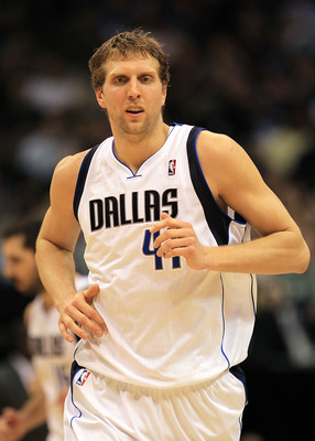 DALLAS, TX - FEBRUARY 23:  Forward Dirk Nowitzki #41 of the Dallas Mavericks at American Airlines Center on February 23, 2011 in Dallas, Texas.  NOTE TO USER: User expressly acknowledges and agrees that, by downloading and or using this photograph, User i