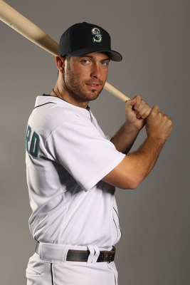 PEORIA, AZ - FEBRUARY 20:  Dustin Ackley #13 of the Seattle Mariners poses for a portrait at the Peoria Sports Complex on February 20, 2011 in Peoria, Arizona.  (Photo by Ezra Shaw/Getty Images)