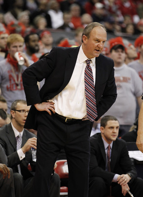 COLUMBUS, OH - FEBRUARY 15:  Head coach Thad Matta of the Ohio State Buckeyes looks on from the bench while playing the Michigan State Spartans on February 15, 2011 at Value City Arena in Columbus, Ohio.  (Photo by Gregory Shamus/Getty Images)