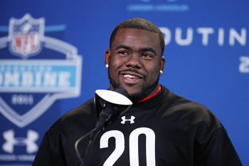 INDIANAPOLIS, IN - FEBRUARY 25: Alabama Crimson Tide running back Mark Ingram answers questions during a media session at the 2011 NFL Scouting Combine at Lucas Oil Stadium on February 25, 2011 in Indianapolis, Indiana. (Photo by Joe Robbins/Getty Images)