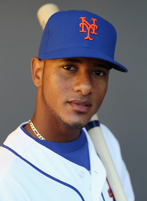 PORT ST. LUCIE, FL - FEBRUARY 24:  RY 24:  RY 24:  Jordany Valdespin #63 of the New York Mets poses for a portrait during the New York Mets Photo Day on February 24, 2011 at Digital Domain Park in Port St. Lucie, Florida.  (Photo by Elsa/Getty Images)