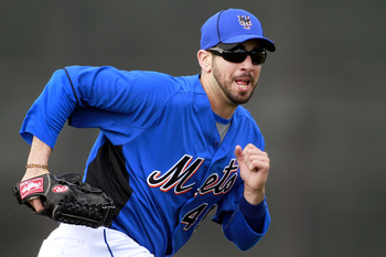 PORT ST. LUCIE, FL - FEBRUARY 17:  Pitcher Oliver Perez #46 of the New York Mets works out during spring training at Tradition Field on February 17, 2011 in Port St. Lucie, Florida.  (Photo by Marc Serota/Getty Images)