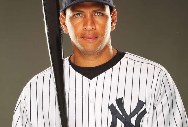 TAMPA, FL - FEBRUARY 23:  Alex Rodriguez #13 of the New York Yankees poses for a portrait on Photo Day at George M. Steinbrenner Field on February 23, 2011 in Tampa, Florida.  (Photo by Al Bello/Getty Images)