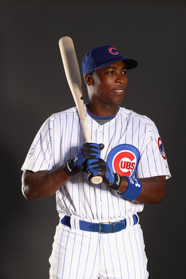 MESA, AZ - FEBRUARY 22:  Alfonso Soriano #12  of the Chicago Cubs poses for a portrait during media photo day at Finch Park on February 22, 2011 in Mesa, Arizona.  (Photo by Ezra Shaw/Getty Images)