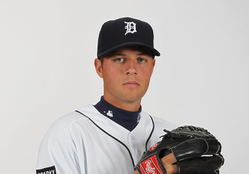 LAKELAND, FL - FEBRUARY 21:  Andy Oliver #43 of the Detroit Tigers poses for a portrait during Photo Day on February 21, 2011  at Joker Marchant Stadium in Lakeland, Florida.  (Photo by Nick Laham/Getty Images)