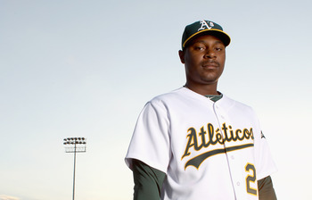 PHOENIX, AZ - FEBRUARY 24:  Chris Carter #22 of the Oakland Athletics poses for a portrait during media photo day at Phoenix Municipal Stadium on February 24, 2011 in Phoenix, Arizona.  (Photo by Ezra Shaw/Getty Images)