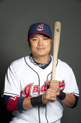 GOODYEAR, AZ - FEBRUARY 22: Shin-Soo Choo #17 of the Cleveland Indians poses during their photo day at the Cleveland Indians Spring Training Complex on February 22, 2011 in Goodyear, Arizona. (Photo by Rob Tringali/Getty Images)