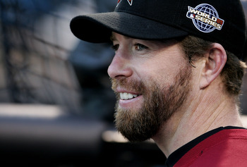 CHICAGO - OCTOBER 21:  Jeff Bagwell #5 of the Houston Astros smiles while waiting to take batting practice during a workout on October 21, 2005 at U.S. Cellular Field in Chicago, Illinois. The Astros begin play in the World Series Saturday night against t